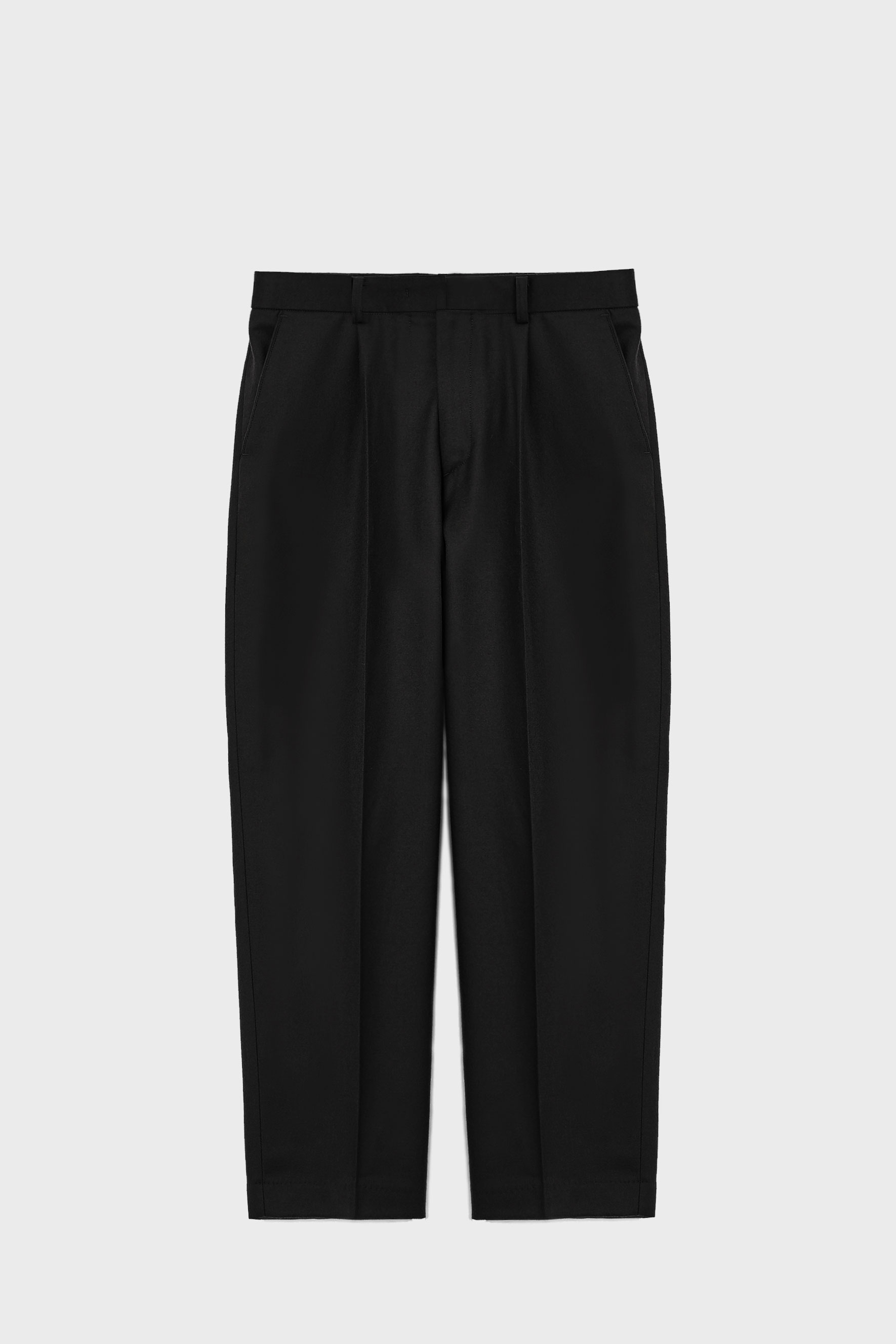 NOAH Merino Wool One Tuck Pants_Black
